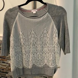 Gray Lace Sweater